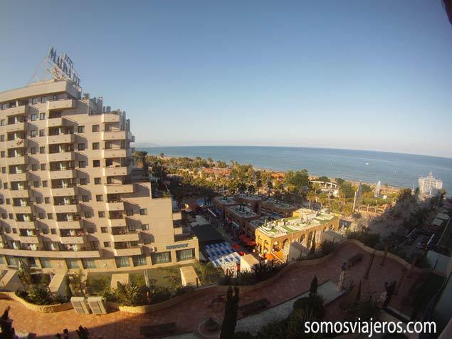 Vistas de la playa desde habitación hotel Marina d'Or