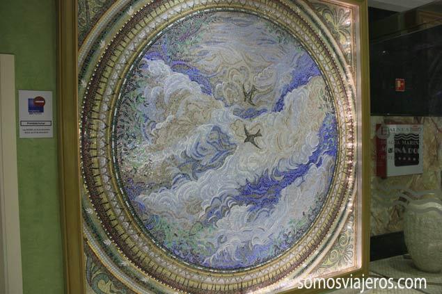 mosaicos en la entrada de Marina d'Or