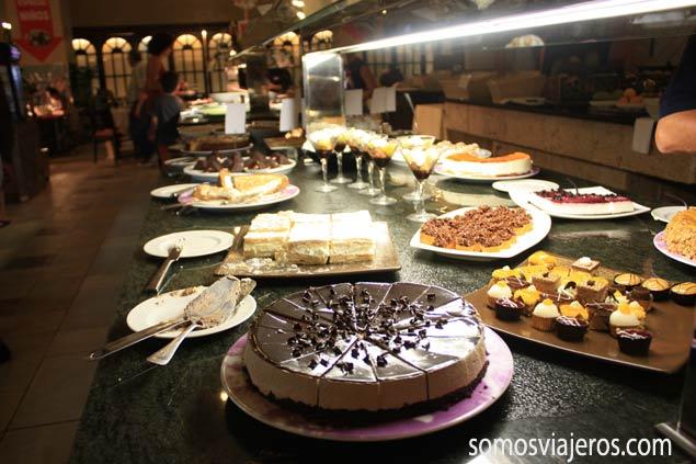 buffet de postres en Marina d'Or