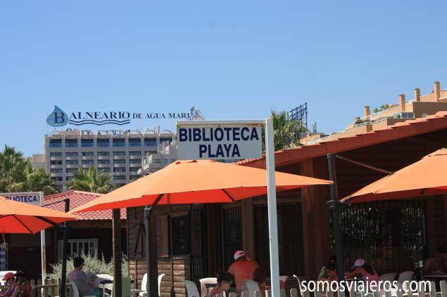 Biblioteca de playa en Marina d'Or