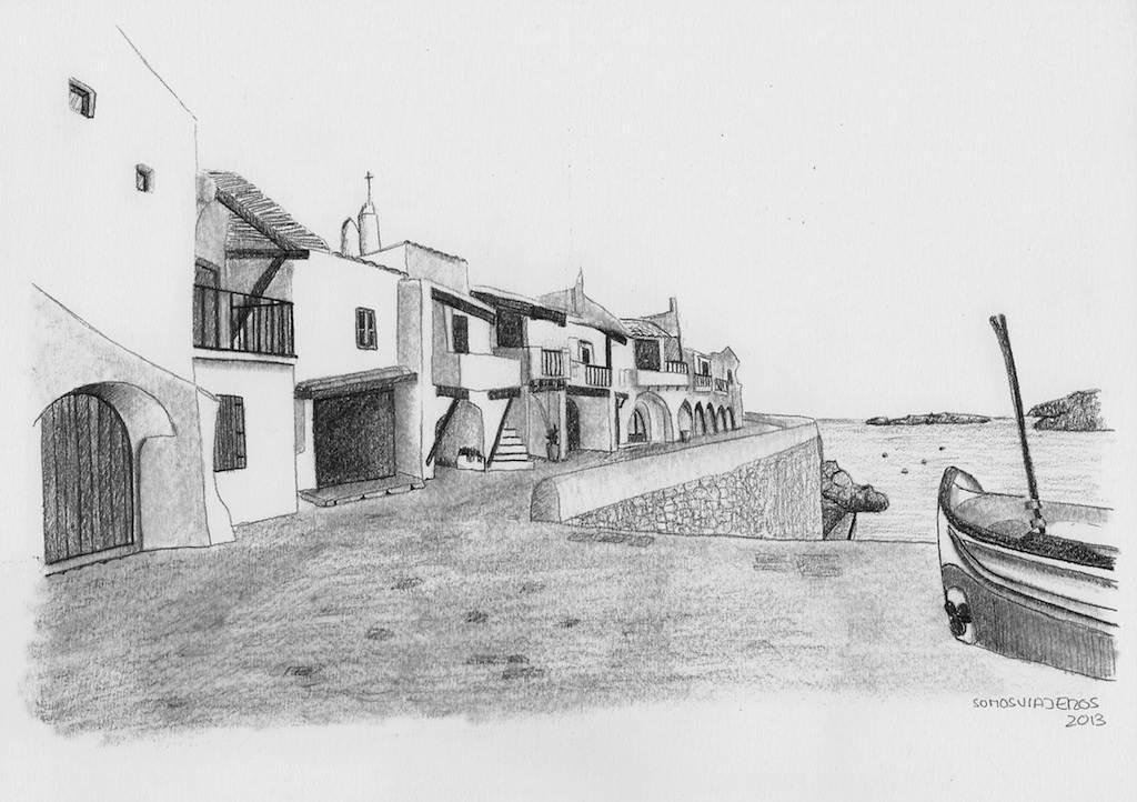 Dibujando la experiencia del viaje a Menorca. Binibèquer