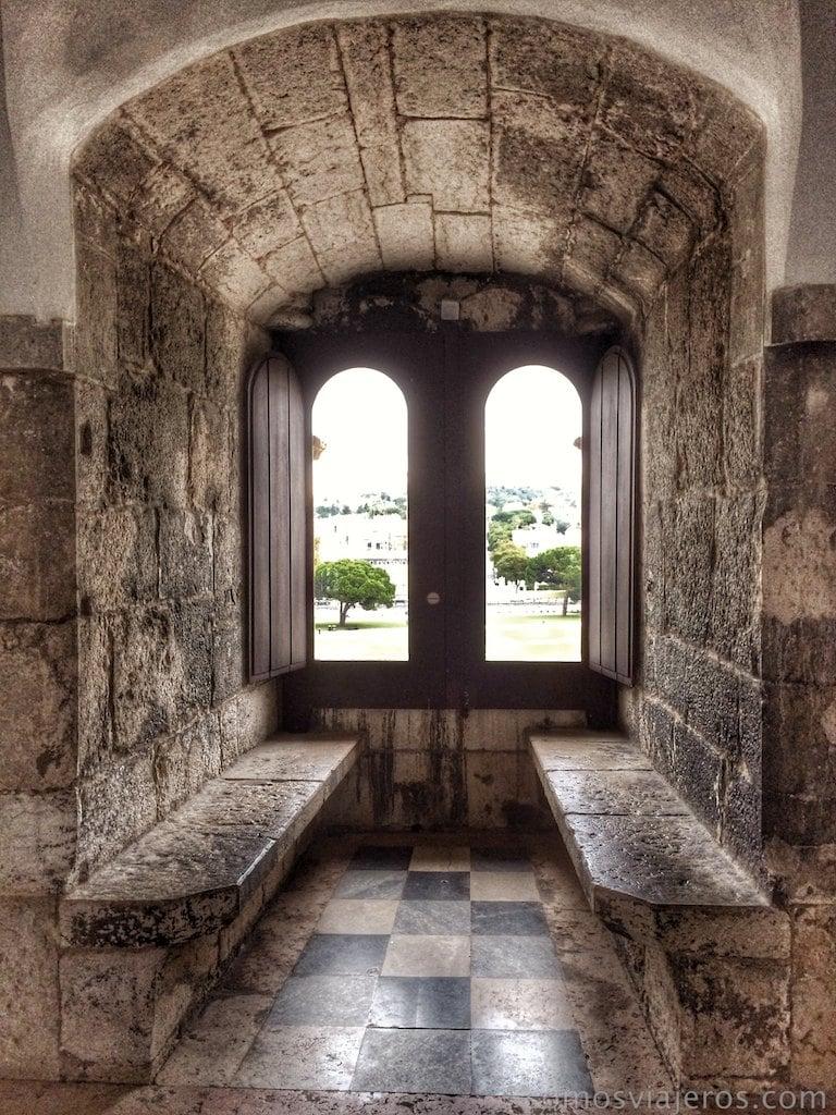 Interior torre de Belem en Lisboa. Click para ampliar
