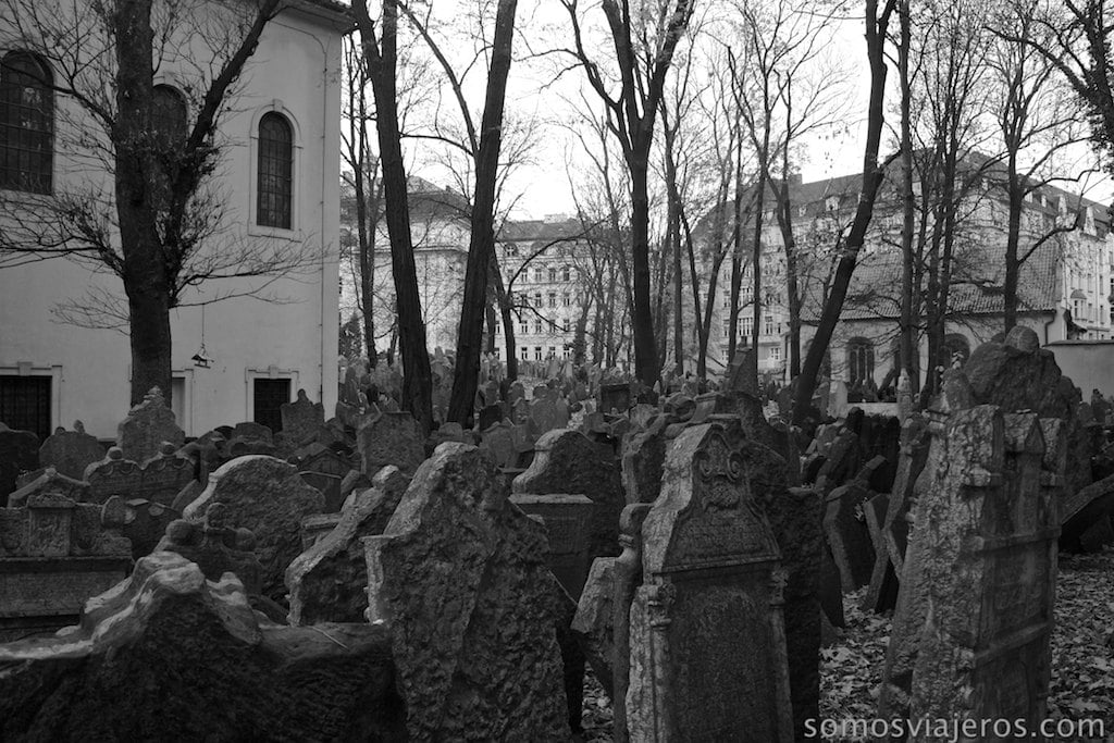 vista cementerio judio de Praga