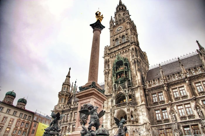 Pilar de Maria en Marienplatz