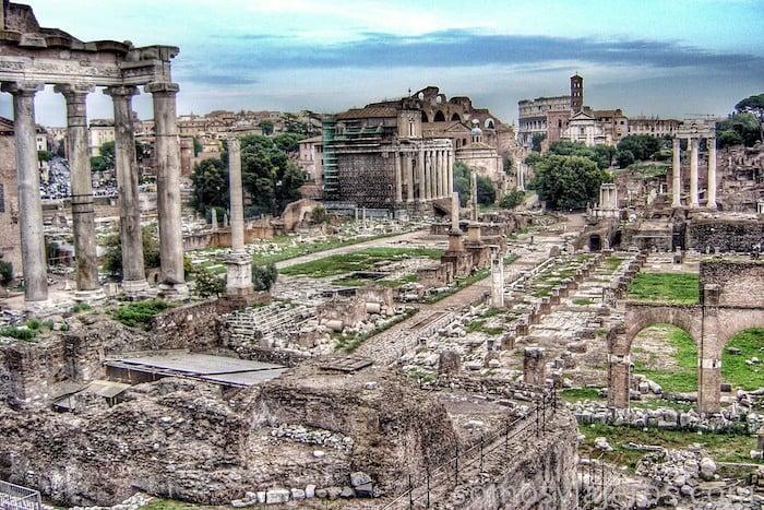 Que ver en Roma. Foto panorámica del Foro de Roma