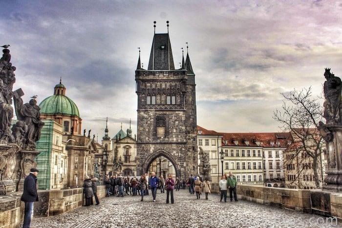 Praga. El famoso puente de Carlos