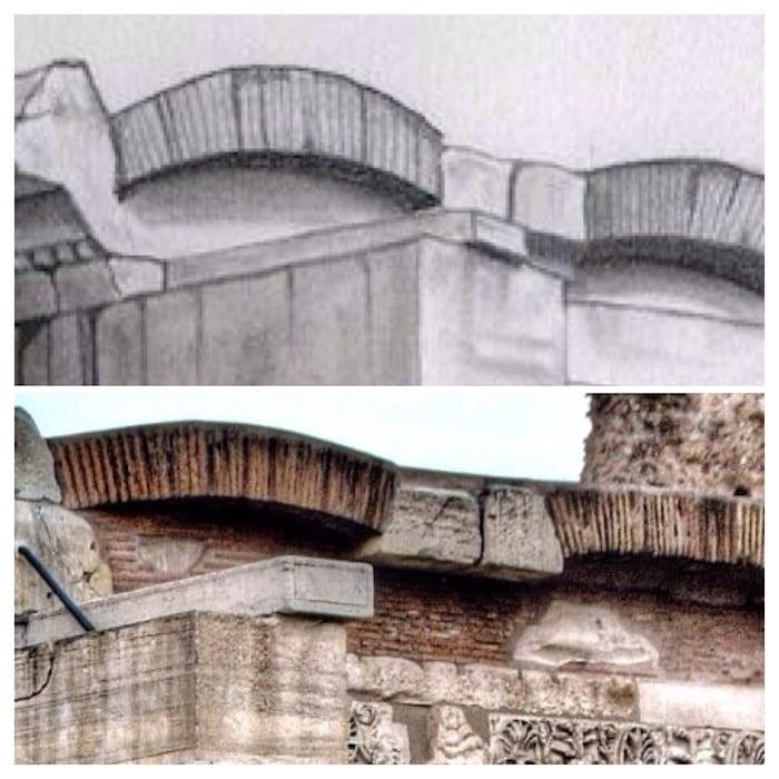 detalle dibujo templo de saturno