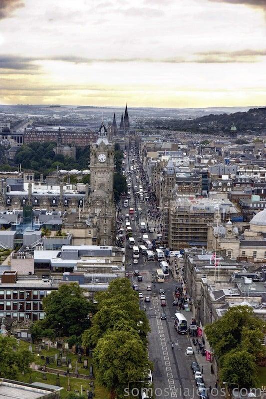 Atardecer en Edimburgo