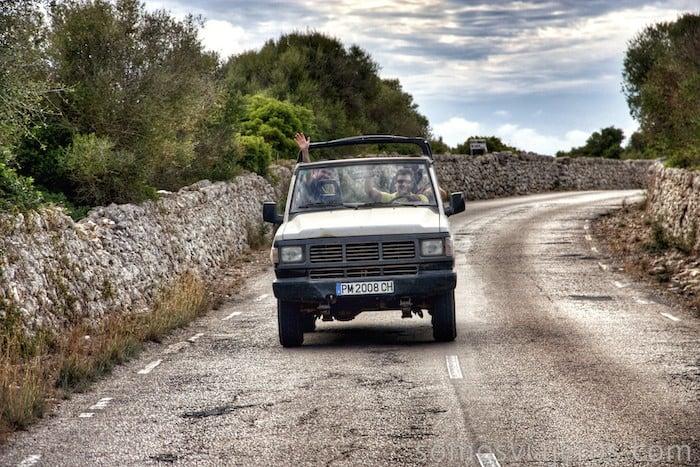 Todoterreno por Menorca
