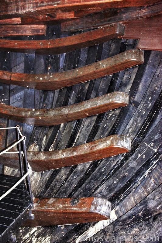 Estructura del barco amsterdam en museo marítimo