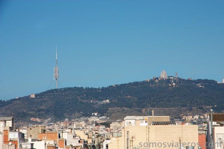 Vista de Barcelona desde las alturas. Montjuïc