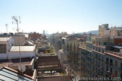Vista de Barcelona desde las alturas. Edifico