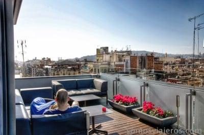terraza del hotel Cram