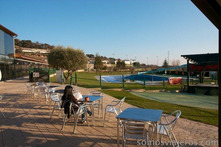 Terraza en Berga Resort