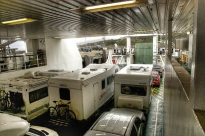 caravana en ferry