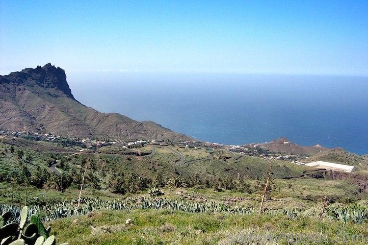 Vista de la costa de la Gomera