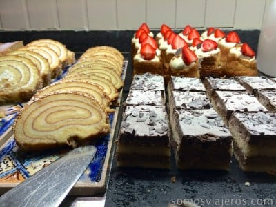 foto pasteles cena buffet