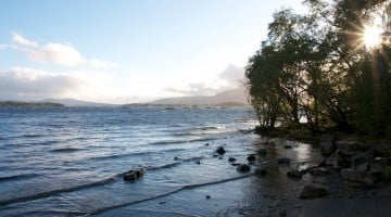 Recorrer Escocia en autocaravana en familia. Lago Lomond