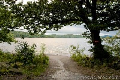 acceso lago lomond en milarrochy bay