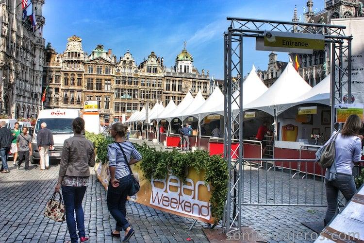 grand place bruselas fiesta de la cerveza