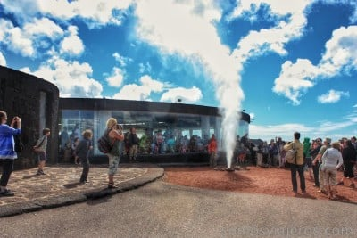 agua a presión en Timanfaya