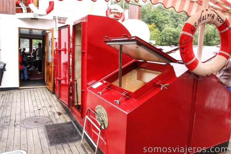 Barco de vapor lago katrine