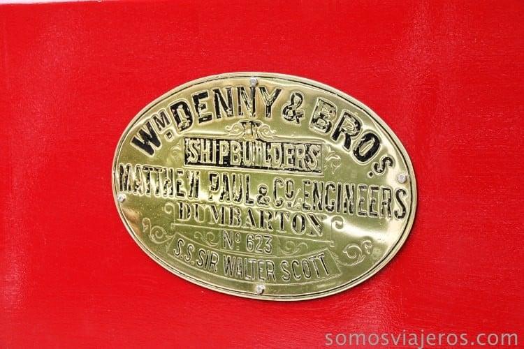 placa del barco de vapor