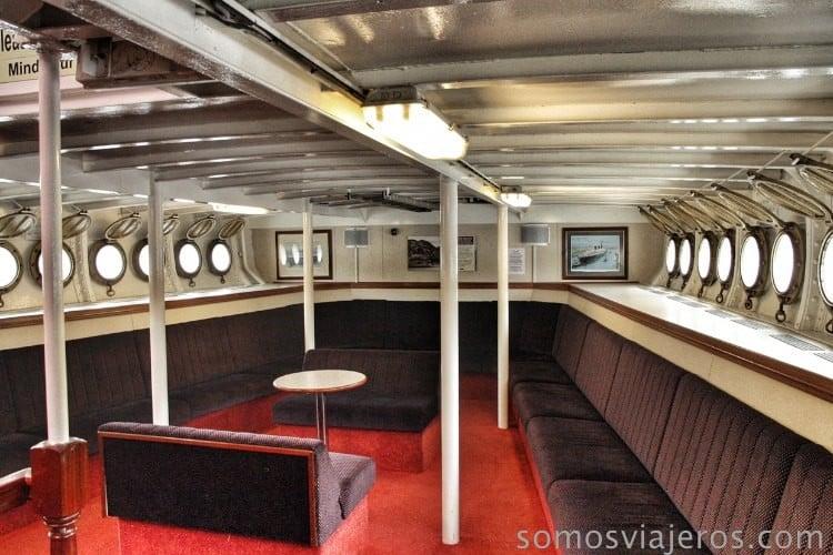 Interior del SS Walter Scott