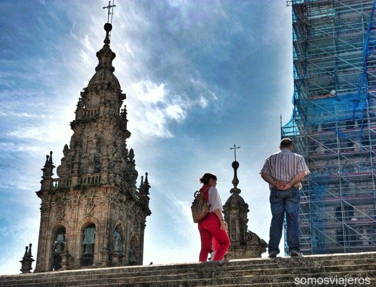 Catedral de Santiago con niños 05