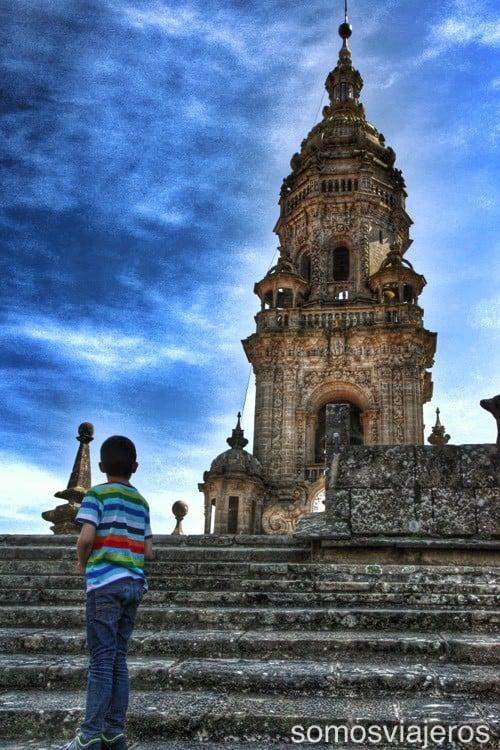 Catedral de Santiago con niños 06