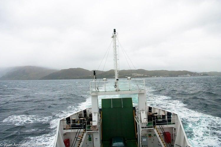 navegando en tierras de Escocia