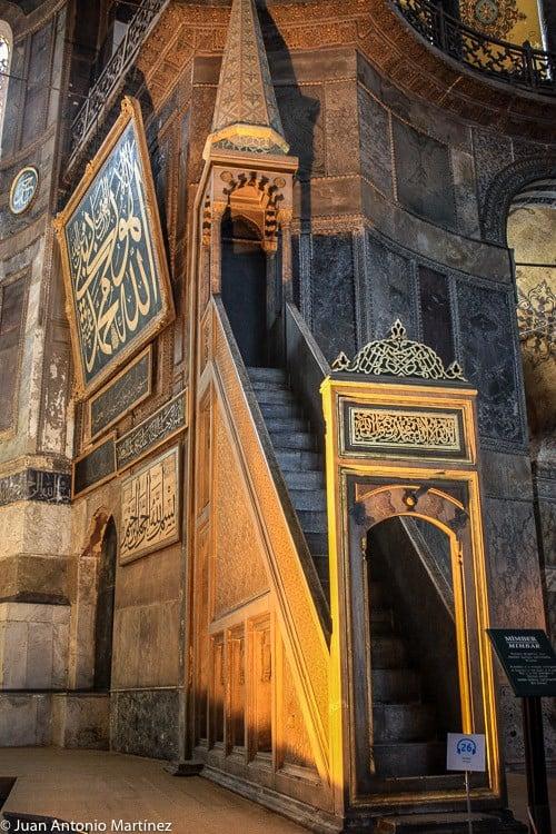 Rincones de Santa Sofía en Estambul