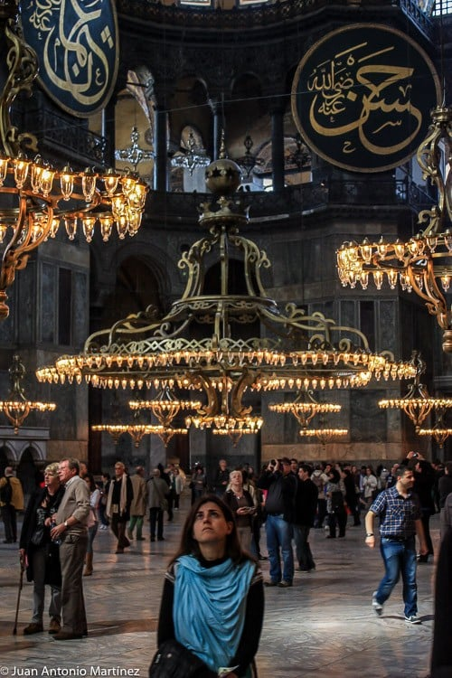 candelabros de santa sofía