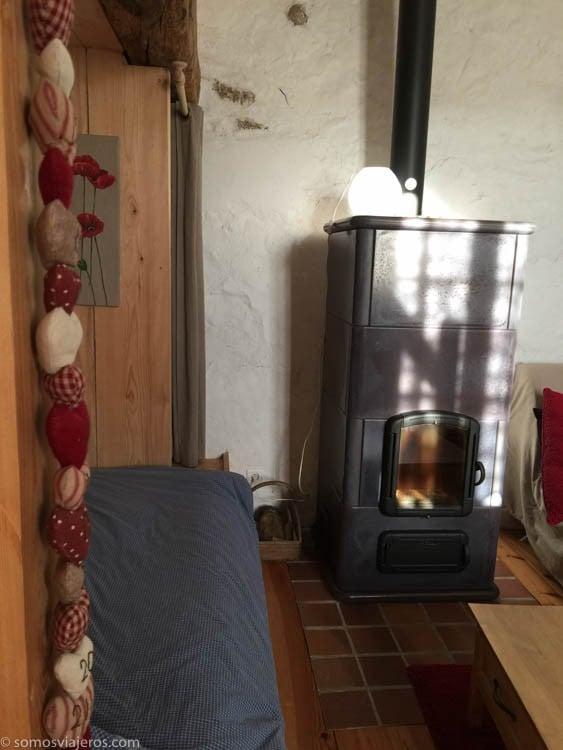 Chimenea en la sala de estar casa rural París - Alojamiento en París y Eurodisney