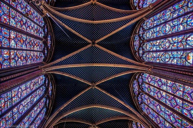 Sainte Chapelle techo azul planta superior