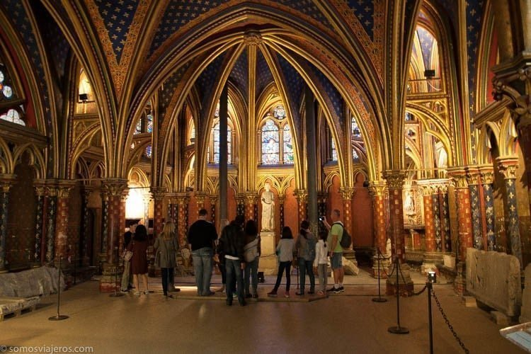 Saint Chapelle columnas doradas