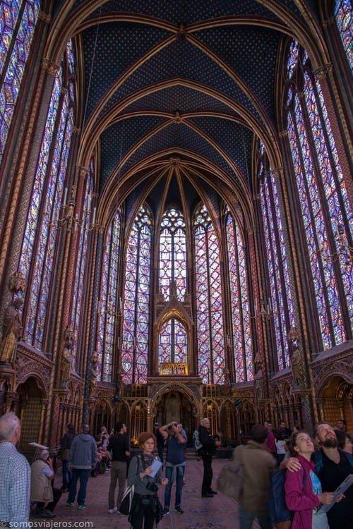Saint Chapelle panorámica planta superior