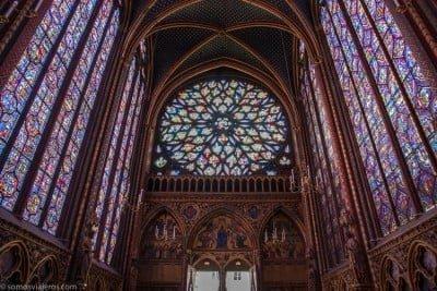 Sainte Chapelle vidriera rosetón