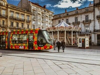 Carrusel y tranvía Montpellier