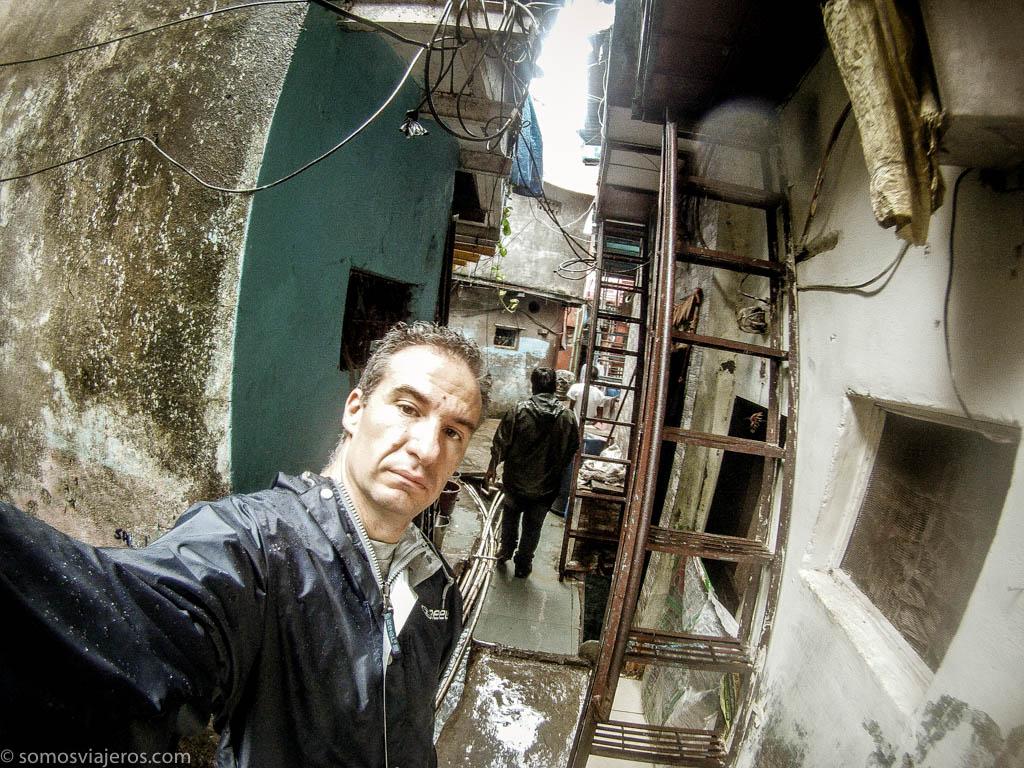 selfi en Dharavi