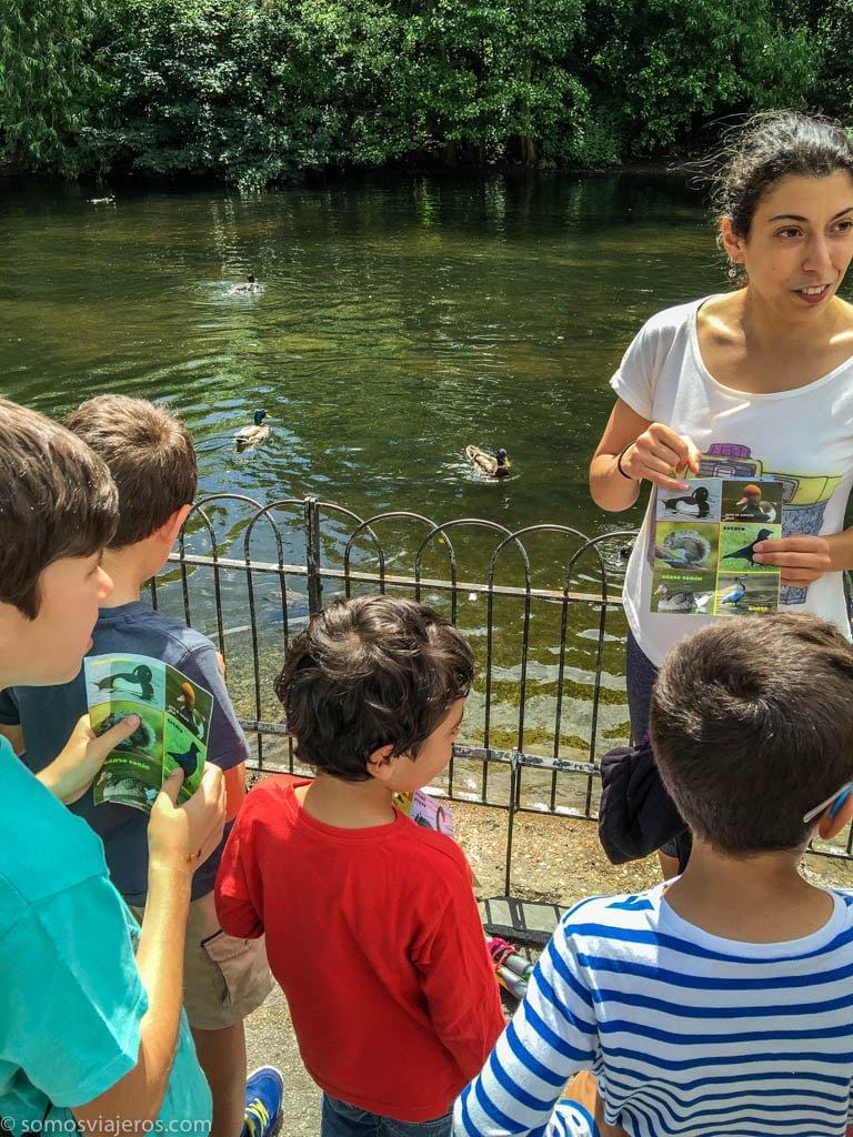 Londres con niños. Identificando animales