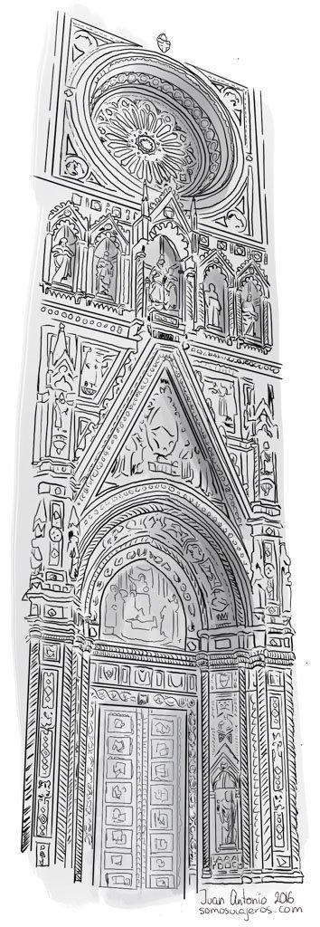 dibujo catedral de florencia
