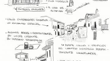 Notas dibujadas de Santillana del Mar