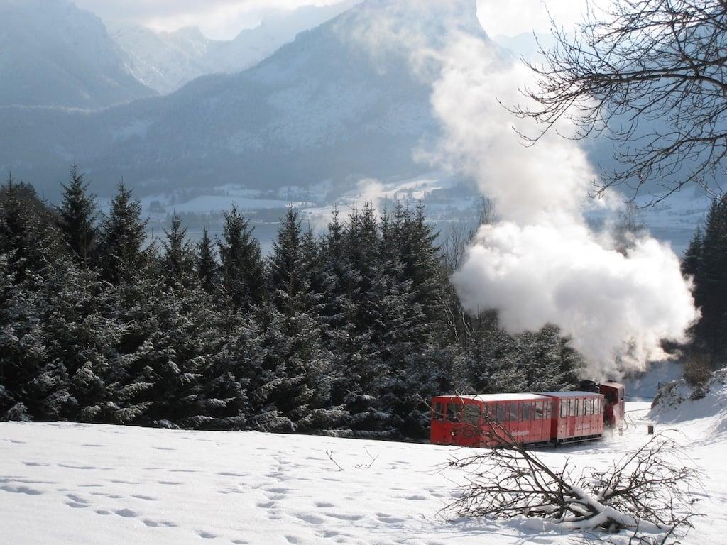tren de adviento en St. Wolfang