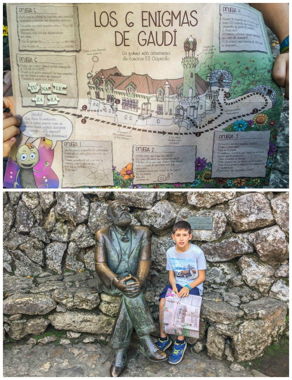 Enigmas para niños en el Capricho de Gaudí