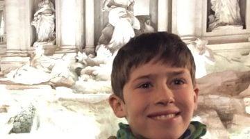 La coherencia viajera de Pau, un niño de 10 años en Roma