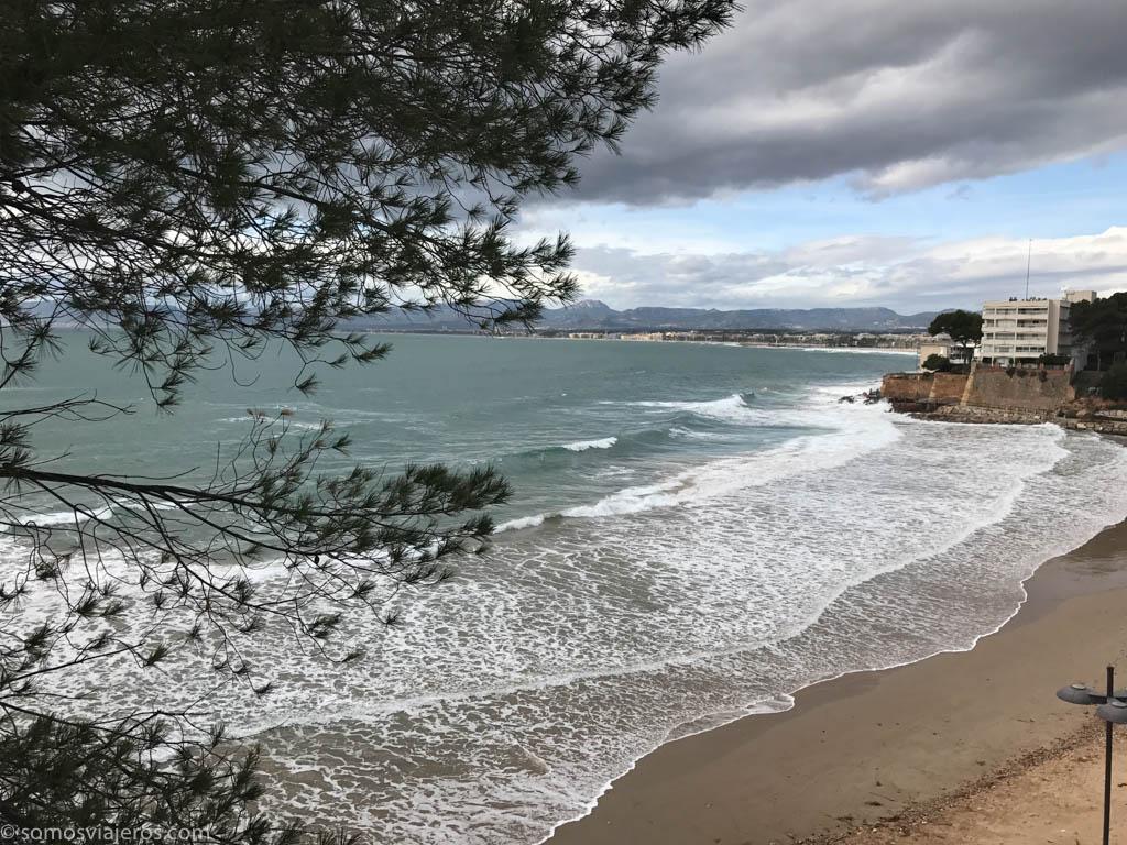 panorámica playa capellans en Salou