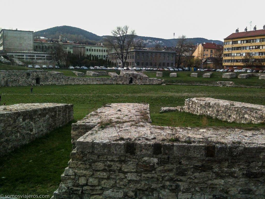 ruinas romanas en Budapest