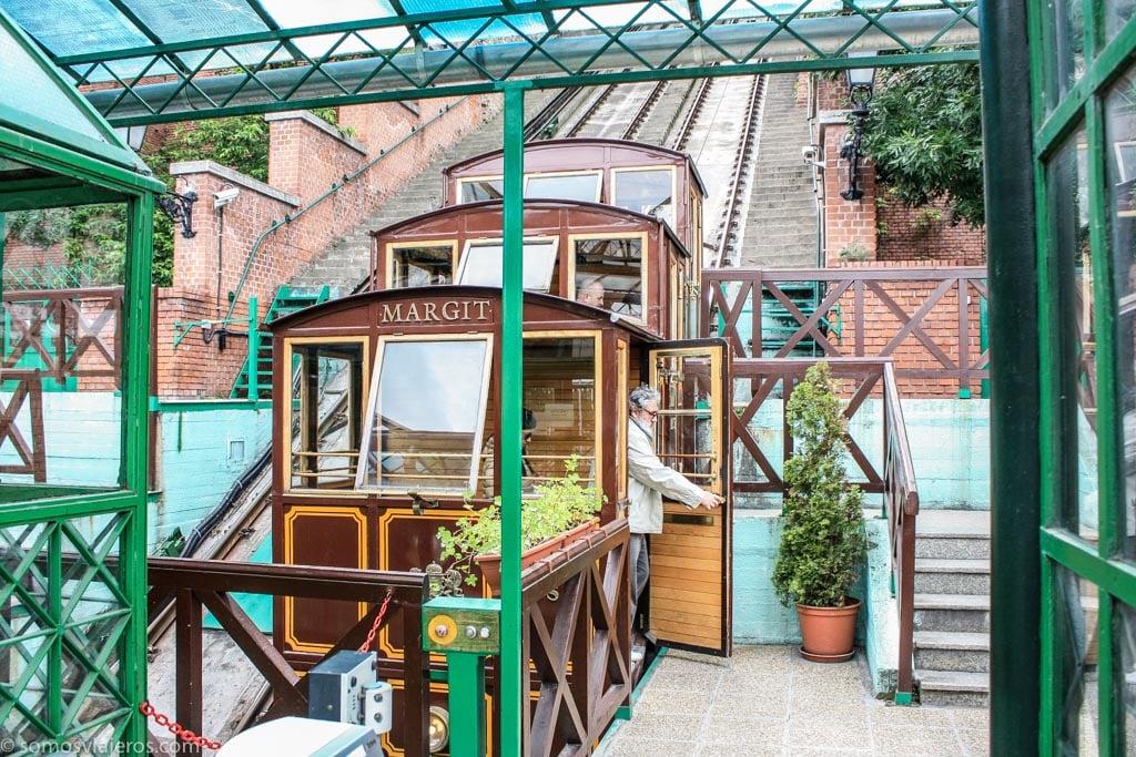 funicular castillo de buda en Budapest