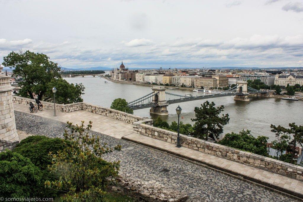 vistas desde el castillo de Buda